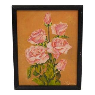 Original Rose Oil Still Life Painting