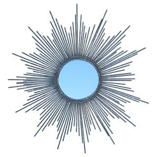 Silver Leaf Starburst Mirror