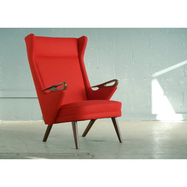 Svend Skipper Attributed 1950s Papa Bear Style Lounge Chair - Image 2 of 8