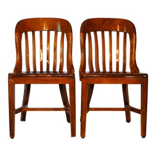 Antique Sikes Walnut Chairs - a Pair