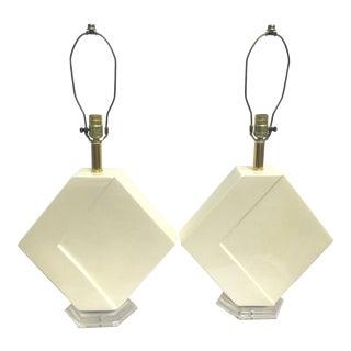 Karl Springer's Style Ceramic Table Lamp
