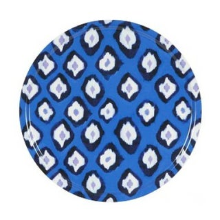 Round Electric Ikat Tray