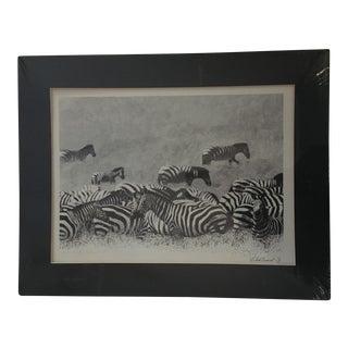 Pointillism Style Zebra Print