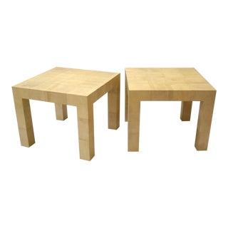 Karl Springer (1931-1991) Pair of Parsons Tables