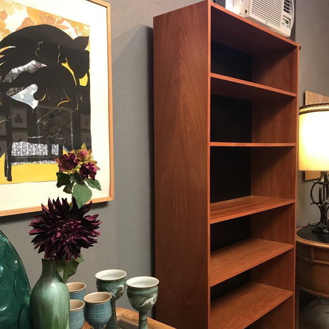 Image of Danish Mid-Century Teak Bookcase