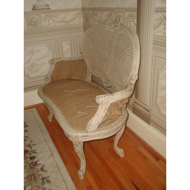 French 19th C. Hand Carved & Caned Settee - Image 6 of 10