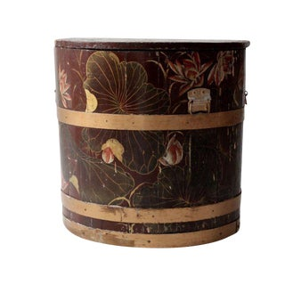 Asian Antique Oversize Rice Bucket