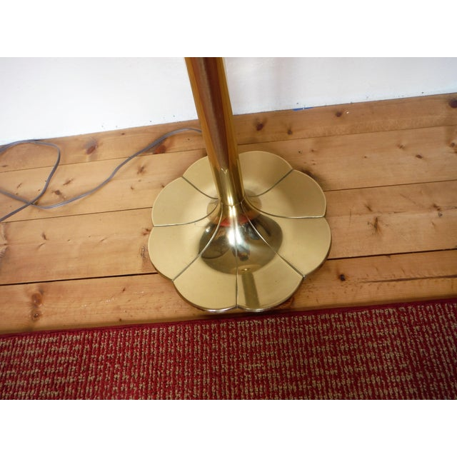 "Stiffel Mid-Century Modern ""Lily And Lotus"" Brass Floor"