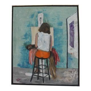 Vintage Creative Expressionist Still Life Painting by Edithy Waldman