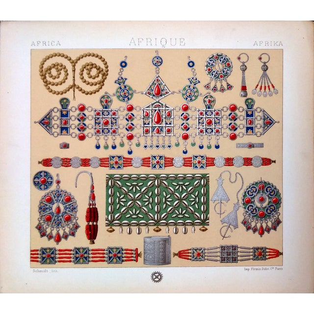 1888 Ornaments of Ancient Africa Lithograph - Image 1 of 8
