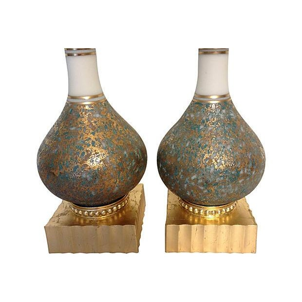 Image of Hollywood Regency Style Lamps- A Pair