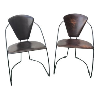 Vintage Modernist Arrben Style Italian Chairs - A Pair