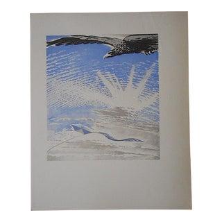 Vintage Ltd. Ed Woodcuts by J. Kefalleno-Greece-Eagle