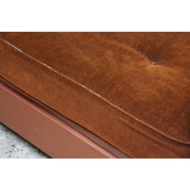 French Deco Leather and Mohair Daybed - Image 8 of 11
