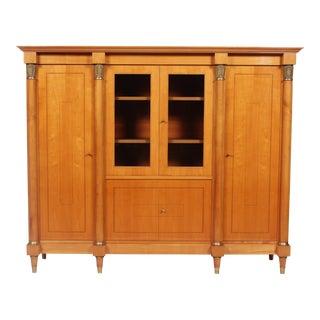 1920s Regency Biedermeier Vitrine Cabinet