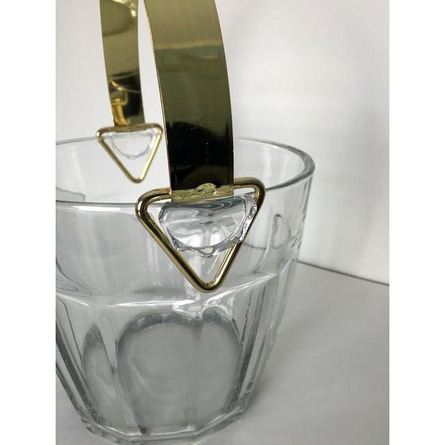 Vintage Glass & Brass Ice Bucket - Image 5 of 6