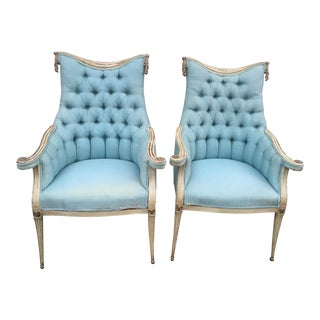 Hollywood Regency Grosfeld House Armchairs - A Pair
