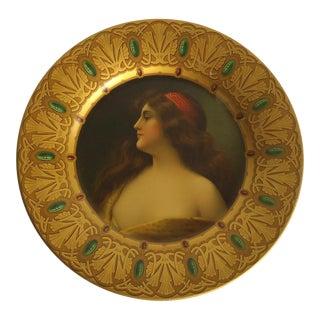 Art Nouveau Vienna Art Plate Tin Lithograph