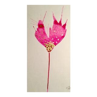 Magenta Gold Botanical Watercolor