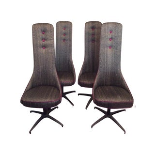 Adrian Pearsall Style High Back Dining Chairs - 4