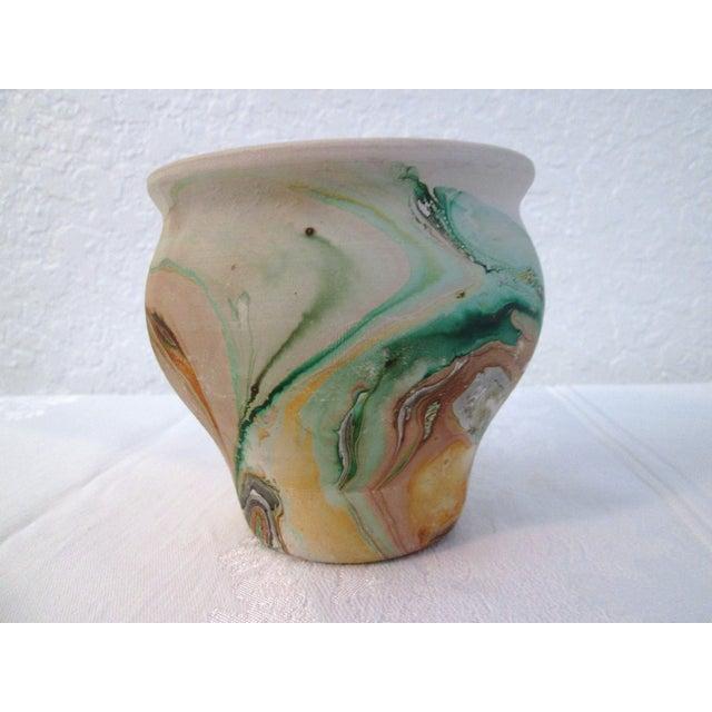 Nemadji Swirl Pottery Vessels - Pair - Image 8 of 11