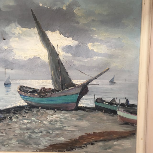Image of Vintage Nautical Oil Seascape