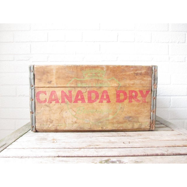 Image of Vintage Canada Dry Crate - Rustic Wood Box