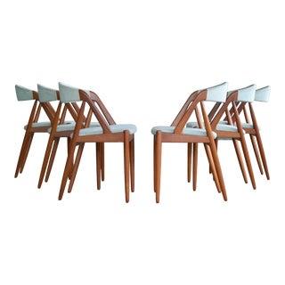 Kai Kristiansen Six Mid-century Teak Dining Chairs Model 31 for Schou Andersen