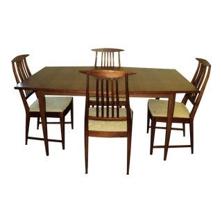 Set of 4 Danish Modern Mid Century Dining Chairs by Kipp Stewart for Calvin  Furniture. Vintage   Used Danish Modern Dining Chairs   Chairish
