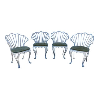 Shell Back Metal Chairs - Set of 4