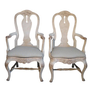 Pair of Rococo Style Armchairs (#31-35)