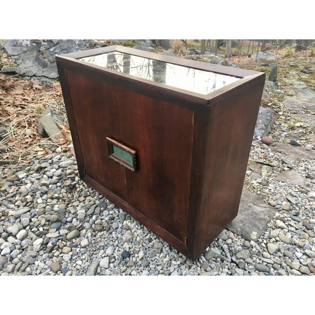 Image of 50's Marble Top Bar Cabinet