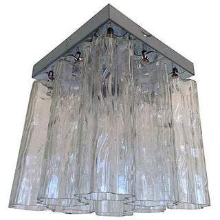 1960's Tronchi Glass Ceiling Light