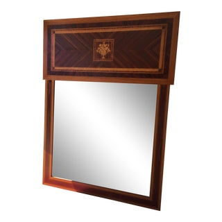 Inlaid Wood Mirror