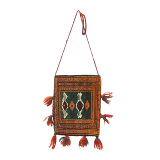 "Handmade Wool Rug Navajo Style Crossover Shoulder Bag -- 11"" x 1'2"""