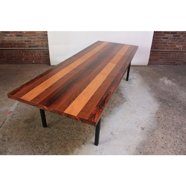 Directional Mixed-Wood Dining Table by Milo Baughman - Image 11 of 11