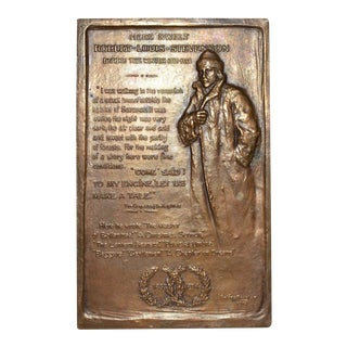 Robert Louis Stevenson Bronze Medallion by Gutzon Borglum c.1915