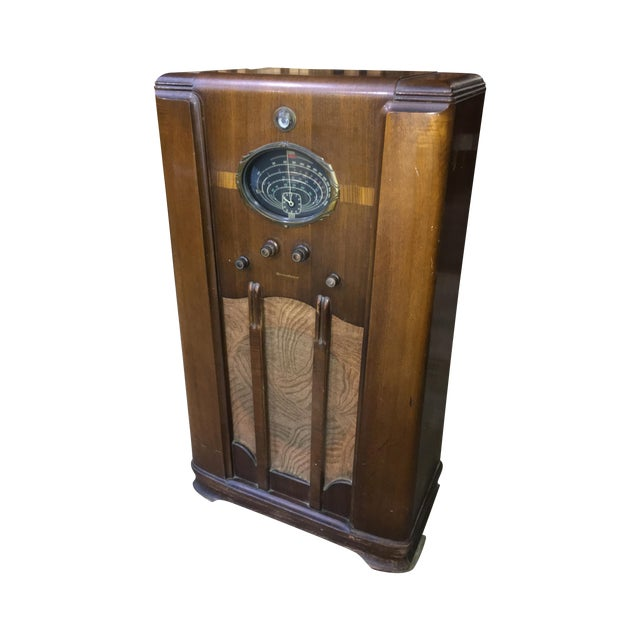 art deco westinghouse console tube radio chairish. Black Bedroom Furniture Sets. Home Design Ideas