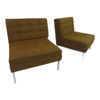 Pair of Slipper Chairs in the Manner of Florence Knoll