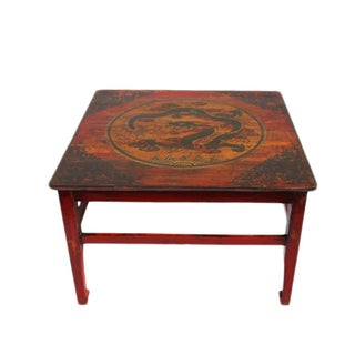 Painted Mongolian Coffee Table