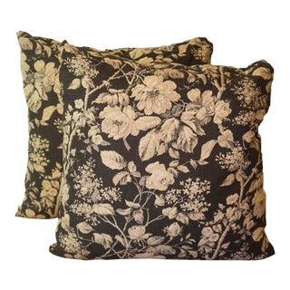 Ralph Lauren Floral Linen Pillow Covers - a Pair