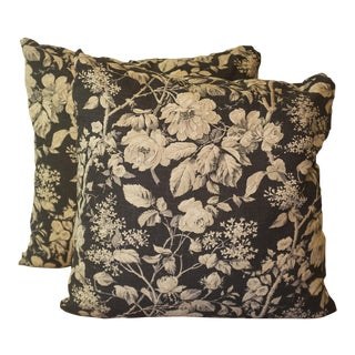 Ralph Lauren Floral Linen Pillows - A Pair