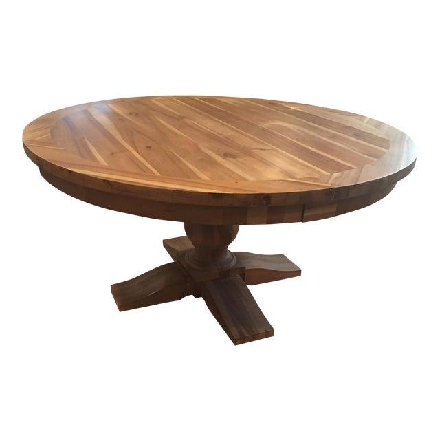 Restoration Hardware Round Dining Table Chairish