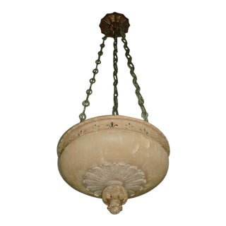 LARGE Early Nineteenth Century Alabaster Chandelier