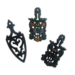 Vintage Miniature Iron Trivets - Set of 3