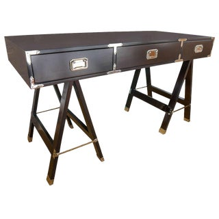 Campaign Style Deep Brown Desk