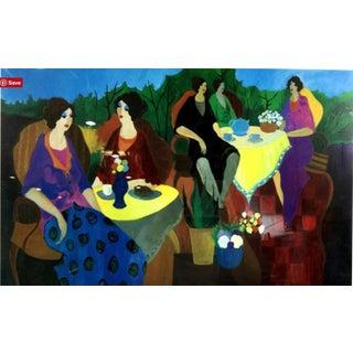 """Morning Social"" Painting By Itzchak Tarkay"