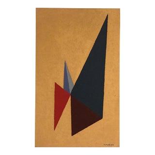 Mid-Century Modern Geometric Painting