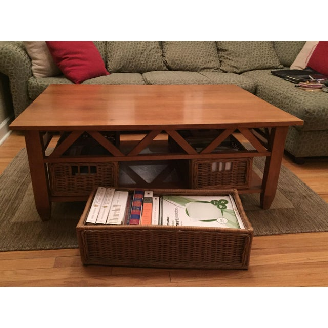Ethan Allen Tuscan Coffee Table: Solid Wood Ethan Allen Coffee Table