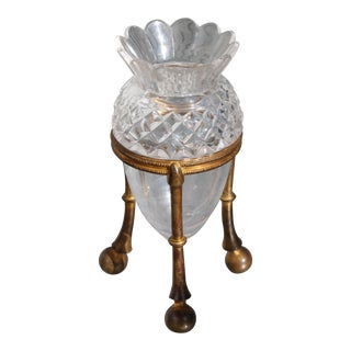 19th Century Famed Glass House F. & C. Osler Gilt Bronze Cut Crystal Epergne